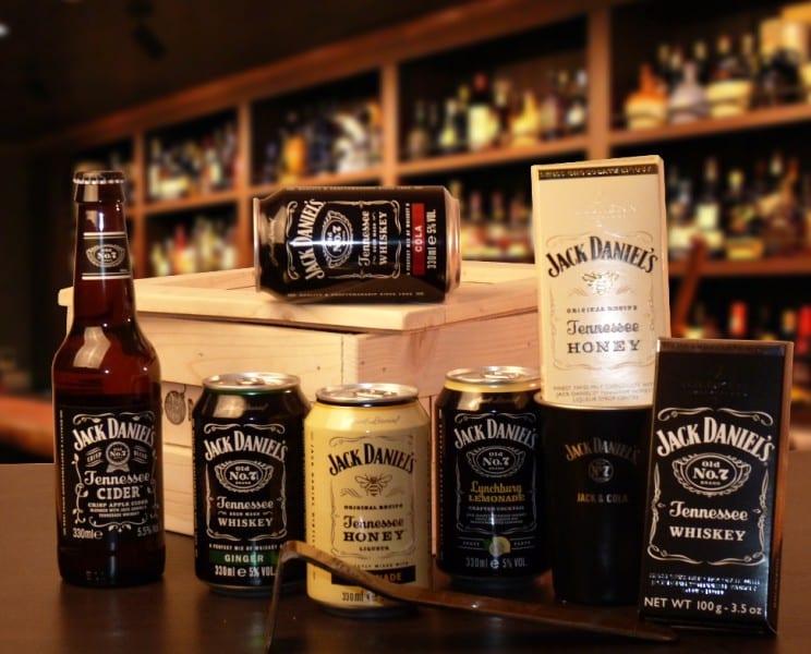 Bedna Jack Daniel's plech a čokoláda malá