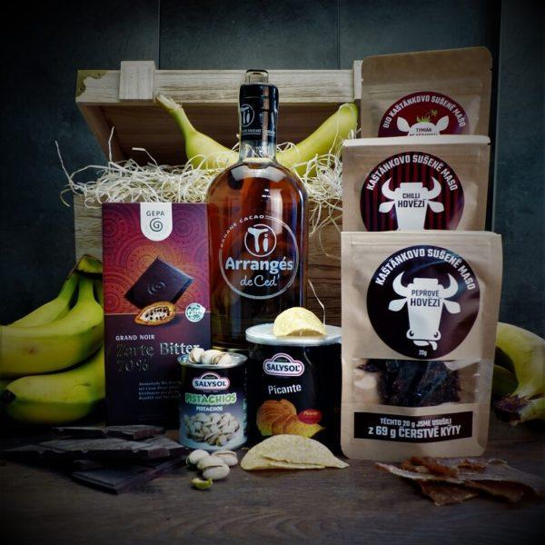 Truhla s rumem Ti Arrangés de Ced' Banane Cacao