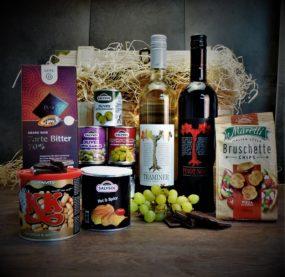 Truhla s červeným a bílým vínem Vineco
