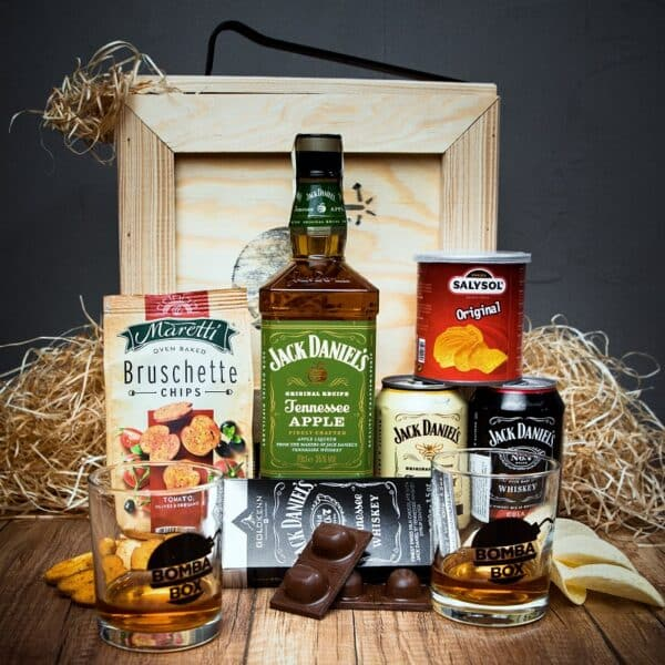 Bedna s whiskey Jack Daniel's Apple